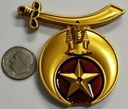 Shriner Maroon And Gold Car Emblem Badge - 2.75 3d Shriners Accessory Type 2