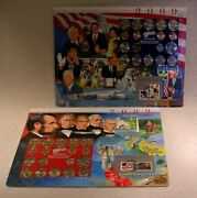 2009 Uncirculated P And D Mint Sets - Postal Commemorative Society Coin And Stamp
