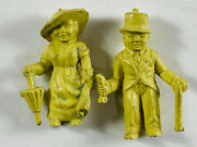 Pair X2 Marx Super Circus Midgets Little People Sideshow Carnival Toy Figures