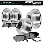 For 2002 Chevy Avalanche 2500 Front+rear Drill Slot Brake Rotors Metallic Pads