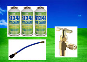 R134a 3 W/can Tap And Hose Kit Fluorescent Leak Detection Dye 3oz. Free Ship