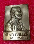 1923 Paris Albin Haller President French Academy Of Sciences Silver Medal