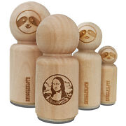 Mona Lisa Painting By Leonardo Da Vinci Rubber Stamp Stamping Crafting Planners