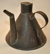 Antique Shaker Tinware Tin Whale Oil Can Lamp Filler - Canterbury N.h.