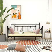 Metal Twin Daybed Frame With Vintage Headboard And Footboard Premium Steel Slat