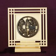 The Only Antique Tsuba Clock In The World With Registered Utility Model T-31
