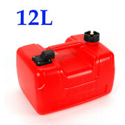 12l Outboard Fuel Tank Can Oil Gas Tank W/ Connector For Marine Boat Fuel Tank