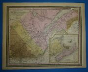 1849 S A Mitchell New Universal Atlas Map Canada East Antique And Authentic