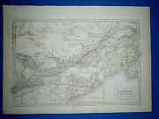Antique 1847 Atlas Map Canada Engraved By S. Hall Old Vintage And Authentic