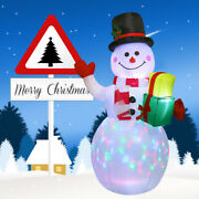 5ft Christmas Decorations Outdoor Inflatable Snowman With Penguin Blow Up Yard