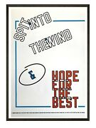 Rare Offset Lithograph Lawrence Weiner - Spit Into The Wind And Hope 2014