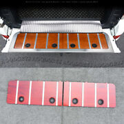 Fits For Land Cruiser Lc200 2008-2020 Wooden Rear Tailgate Plank Trim Cover 2pcs