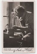 1910 Autographed Rppc Postcard Of Noted Potter Anton Lang Forming A Vase