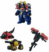 Robot Concerto 02 Mini Figure Assort 3 Type Set Rio Max Support Aircraft Weapons