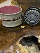 Vintage Hardy Brothers Zenith Fly Reel With Hardy Red Zipped Case Circa 1960