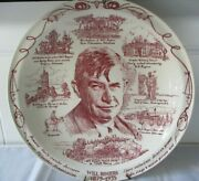 Will Rogers Memorial Vernon Kilns Decorative Plate With Wall Hanger