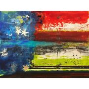 Large Abstract American Flag Paintings Originals And Giclees