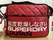 Superdry Primary Messenger Bag - Football Red Bnwt Ref Na01
