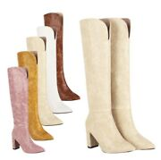 44/48 Womenand039s Hippie Gogo Nightclub Winter Pointy Toe Knee High Riding Boots L