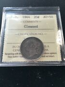 1864 New Brunswick Andcent20 Cent Iccs Graded Au-50 Cleaned