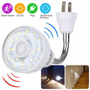 Led Motion-activated Sensor Night Light Ac Outlet Plug-in Indoor Wall Stair Lamp