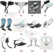 Motorcycle Mirrors For Harley Davidson Dyna Sportster Fatboy Softail Touring Usa