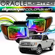 Oracle Dynamic Colorshift Headlight Halo Kit For 2009-2014 Ford F-150 Raptor