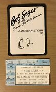1986 Bob Seger And The Silver Bullet Band Indianapolis Concert Ticket Stub F1a