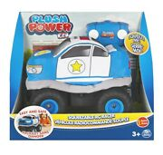 Plush Power Rc, Remote Control Police Car With Soft Body And 2-way Steering, For