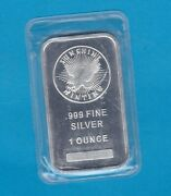 Sealed Sunshine Minting One Troy Ounce .999 Fine Silver Bar In Mint Condition