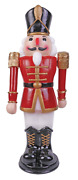 3ft Red And White Nutcracker With Moving Arms Outdoor Indoor Christmas Decorations
