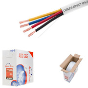 250ft 16awg 4 Conductors 16/4 Cl2 Rated Loud Speaker Cable Wire Pull Box For /
