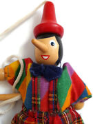 Vintage Wooden Pinocchio String Puppet Marionette Doll Toy Hand Carved Figurine.