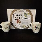 Williams Sonoma 12 Days Of Christmas Set Of Six Mugs In The Box