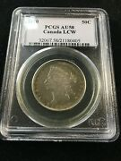 1870 Lcw Pcgs Graded Canadian Silver Andcent50 Cent Au-58