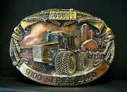 Case Ih 9150 Tractor 9100 Series Brass And Copper Belt Buckle 1987 Limited Ed Cih