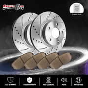 Front Brake Rotors +ceramic Pads For 2004 2005 525i E60 Models W/automatic Trans