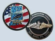 Navy Uss Indiana Ssn-789 Submarine Gold Silver Dolphin Challenge Coin