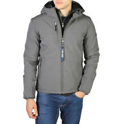 Yes Zee Men's Jacket In Gray Padded Inside And Fixed Hood New