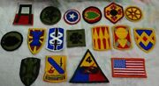 Lot Of 17 Diff -- Vintage Us Army Military Patches - Vietnam And Desert Storm