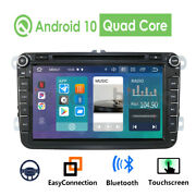 8 Android 10 Gps 2din Car Stereo Radio Dvd Player For Vw Golf Mk5 Passat 1+16gb
