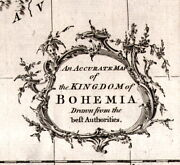 Accurate Map Of The Kingdom Of Bohemia Rollos Old Map Europe 1760