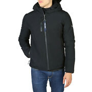 Yes Zee Men's Parka Jacket In Navy Blue Padded Inside And Fixed Hood New