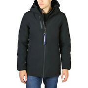 Yes Zee Men's Parka Jacket In Navy Blue Padded Inside And Removable Hood New