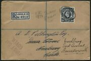 Sg478 1939 30 Oct Registered Envelope From London To Newbury Re-directed To