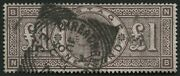 Sg185 Andpound1 Brown Lilac Deep Full Colour V Fine Reading Square Circle 1890