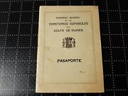1936 Spanish Guinea Passport Issued In Santa Isabel For Travel Douala Cameroon