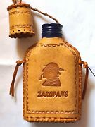 Handmade Vintage Leather Case Liquor Bottle Cover Water Drink Small Empty 14 Cm