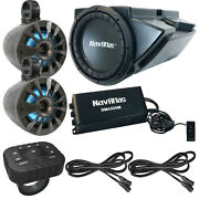 2x Navatlas 6.5 Led Speakers 10 Powered Sub Bluetooth Controller 2x Cables