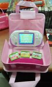 Leap Frog Leapster Explorer - Pink - With Lot Of 4 Games And Carrying Case